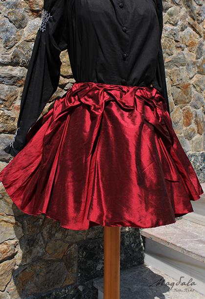 6aaa65efa Falda roja drapeada. – Magdala Taller Textil